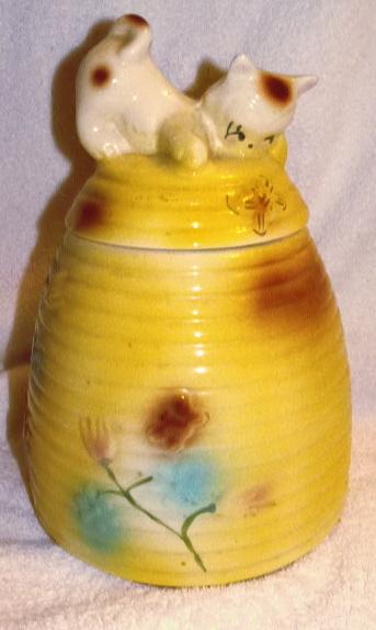 American bisque kitten on beehive collector cookie jars - Beehive cookie jar ...