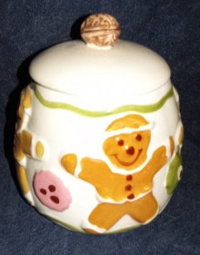 LA Pottery Gingerbread boy-220x280