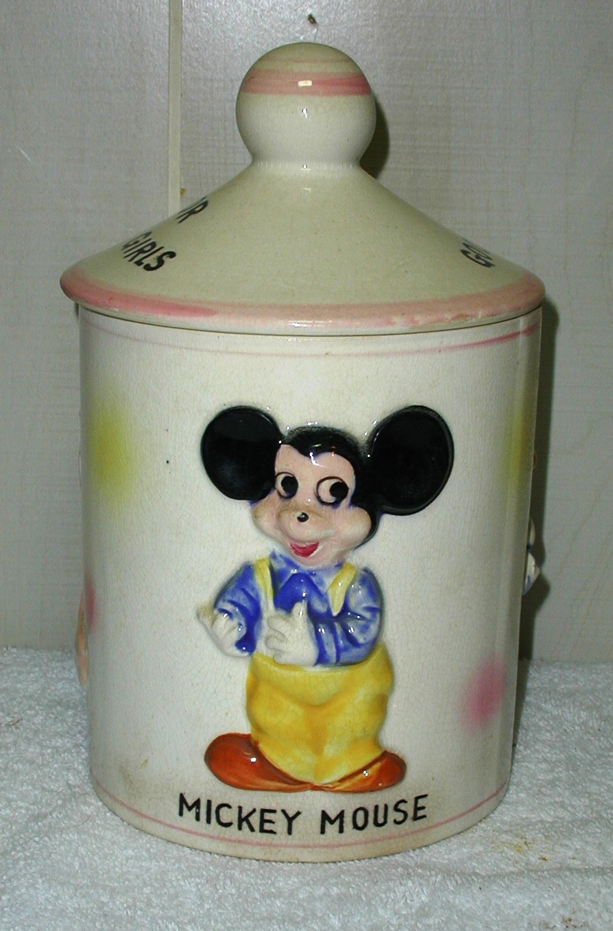 Disney Cookie Jars >> Mickey Mouse Disney Productions Candy Jar From Collector Cookie Jars