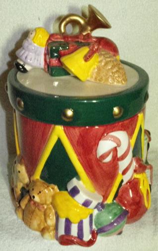 Christmas Drum.Pflatzgraph Christmas Drum Collector Cookie Jar