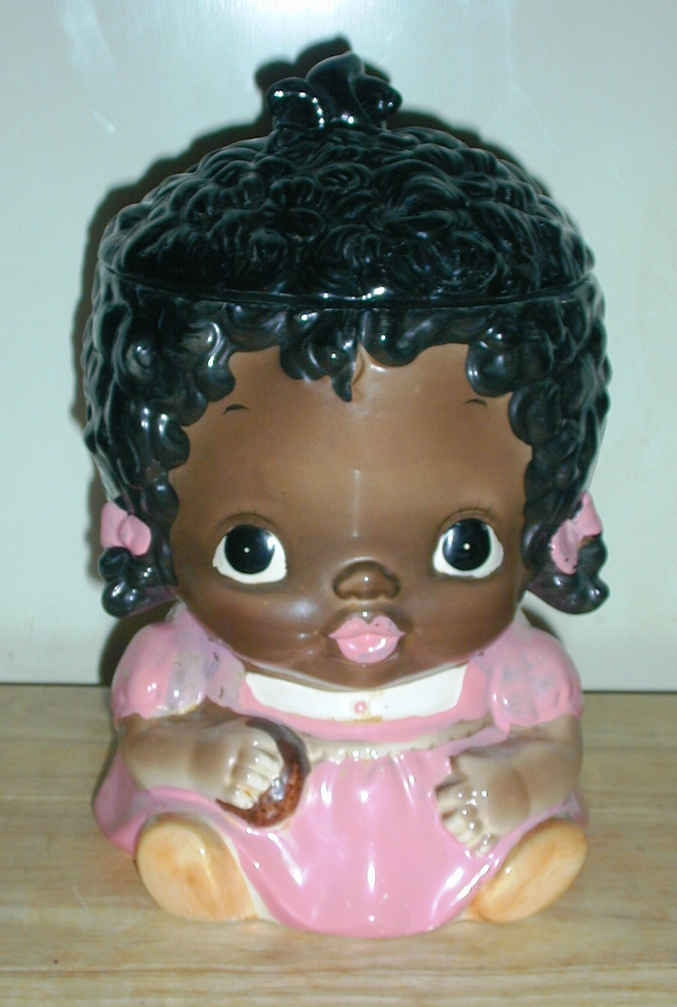 Little Black Girl Collector Cookie Jar By Sears Roebuck -7854